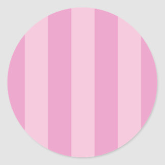 Pink Cupcake Striped Stickers