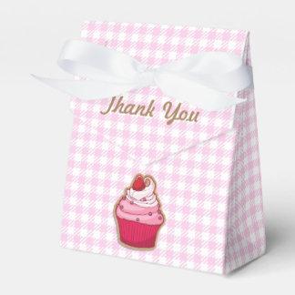 Pink Cupcake Tent Favor Box