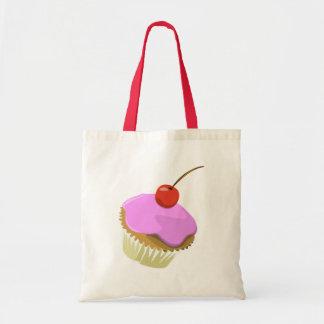Pink cupcake tote bag