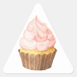 pink cupcake triangle sticker