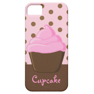 Pink Cupcake with Pink Polka Dots Case For The iPhone 5