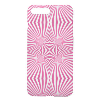 Pink curved line pattern iPhone 7 plus case