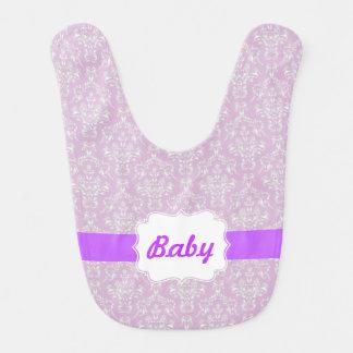 Pink Custom Damask Baby Bib