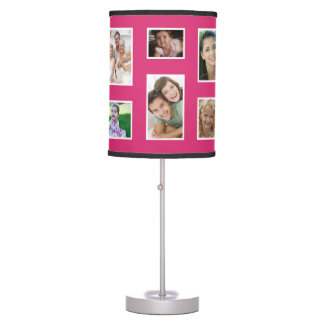 Pink Custom Family Photo Lamp