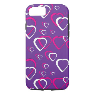 Pink Cut Out Hearts iPhone 7 Case