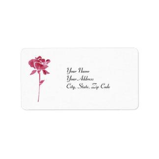 Pink cut Rose address lables