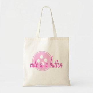 Pink Cute as a Button Bag