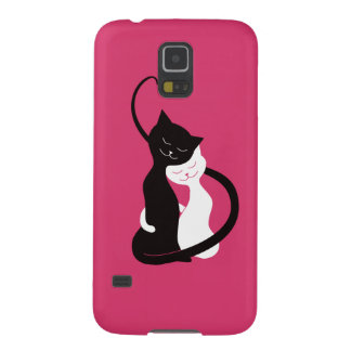 Pink Cute Cats In Love Galaxy S5 Cover