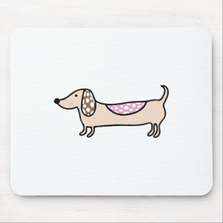 Pink cute dachshunds mouse pad