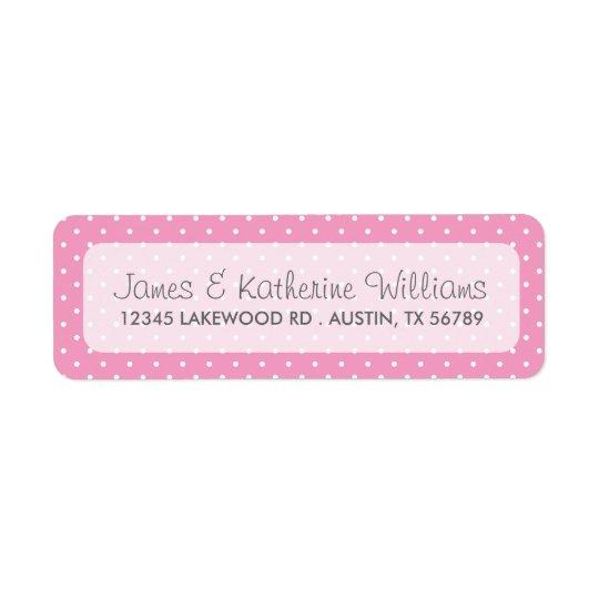 Pink Cute Polka Dots Modern Wedding