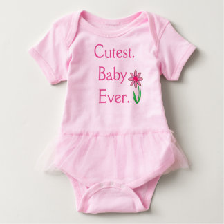 Pink Cutest Baby Ever One Piece Tshirt
