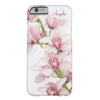 Pink Cymbidium Orchid Floral iPhone 6 case Barely There iPhone 6 Case