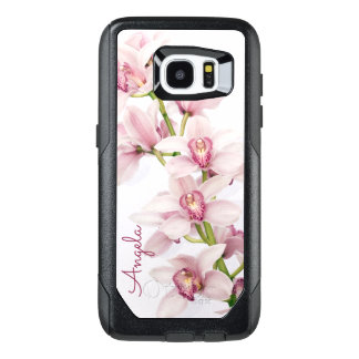 Pink Cymbidium Orchid Floral OtterBox Samsung Galaxy S7 Edge Case