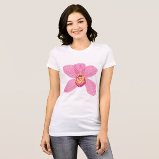 Pink cymbidium orchid t-shirt