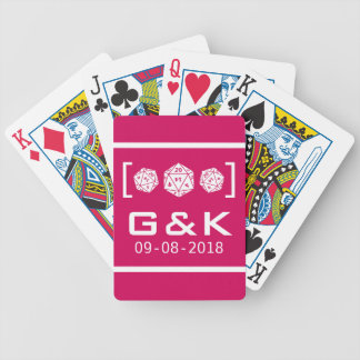 Pink D20 Dice Gamer Wedding Playing Cards Bicycle Playing Cards