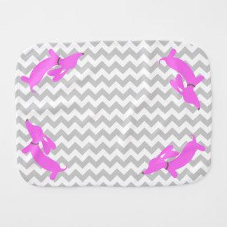 Pink Dachshund Burp Cloth