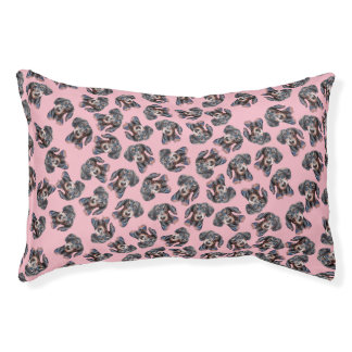 Pink Dachshund covered design. Pet Bed