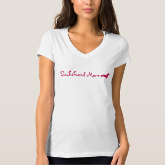Pink Dachshund Mom T-Shirt