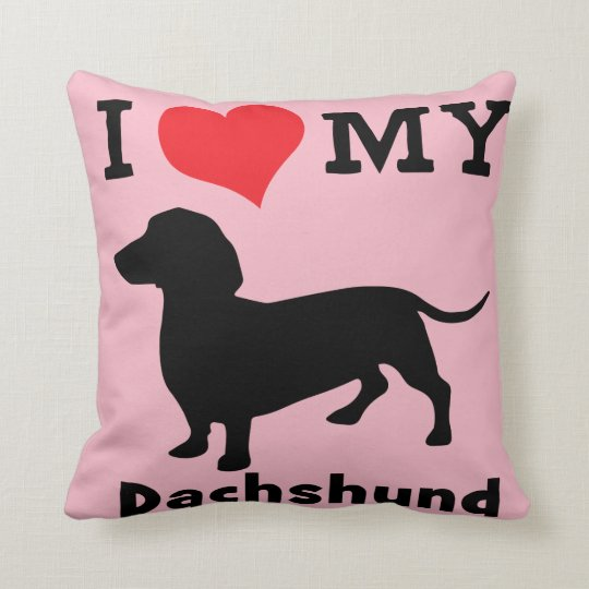 Pink Dachshund Pillow by Mini Brothers