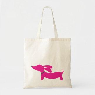 Pink Dachshund Tote Bag