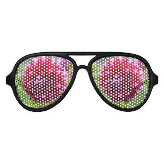 Pink Dahlia Aviator Sunglasses
