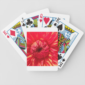 Pink Dahlia Bicycle Playing Cards