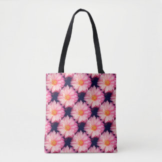 Pink Dahlia Flower  All-Over-Print Tote Bag