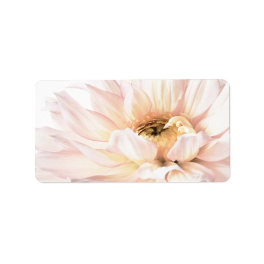 Pink Dahlia Flower - Dahlias Customized Template Label