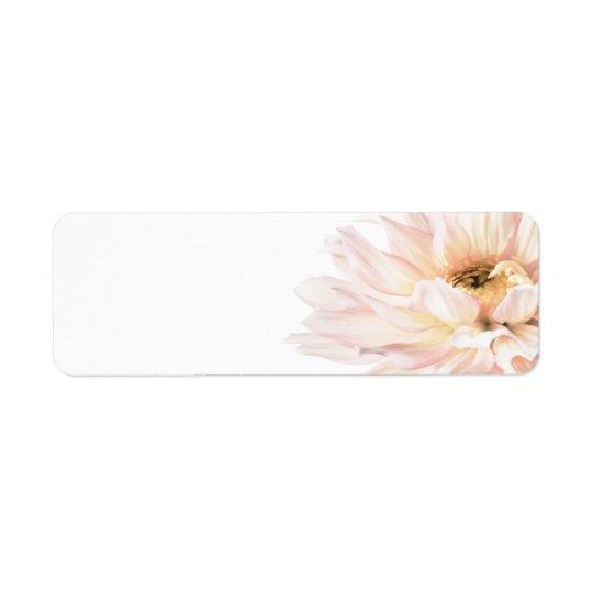 Pink Dahlia Flower - Dahlias Customized Template Return Address Label