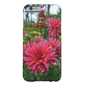 Pink dahlia flower garden iphone case