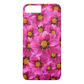 Pink dahlia flower pattern iPhone 7 plus case