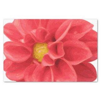 Pink Dahlia Flower Tissue Paper