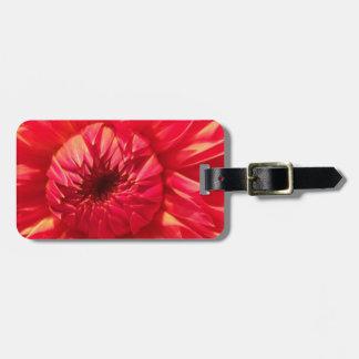 Pink Dahlia Luggage Tag