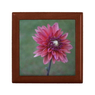 Pink Dahlia Tile Wooden Box