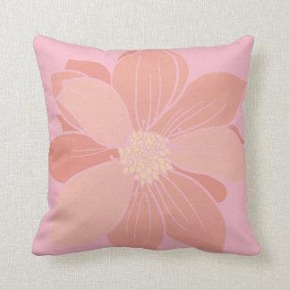 Pink Dahlias Square Throw Pillow Cover