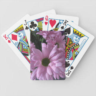 Pink Daises Bicycle Playing Cards