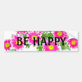 Pink Daisies / Asters Bouquet + your ideas Bumper Sticker