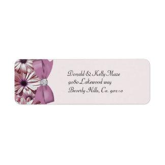 Pink Daisies Bow & Ribbon Wedding