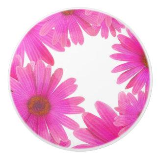 Pink Daisies Floral Daisy Elegant Country Rustic Ceramic Knob