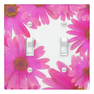 Pink Daisies Floral Daisy Elegant Country Rustic Light Switch Cover