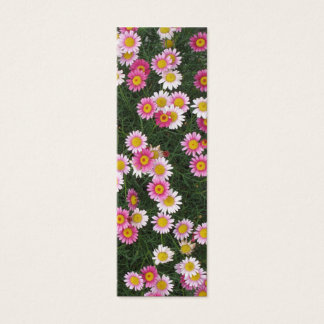 Pink Daisies Flowers Bookmarks Photo Art Mini Business Card