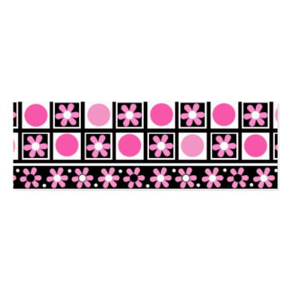 Pink Daisies Social Card Business Cards