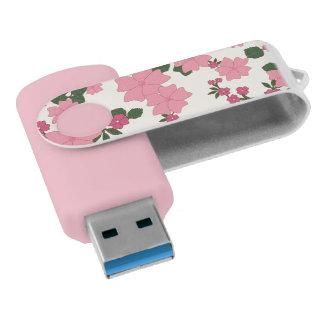 pink daisies usb flash drive