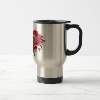 pink daisy 15 oz stainless steel travel mug
