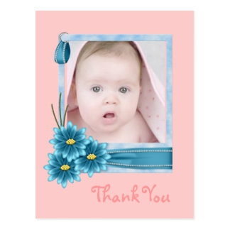 pink Daisy Baby Girl Personalized Photogift Postcard