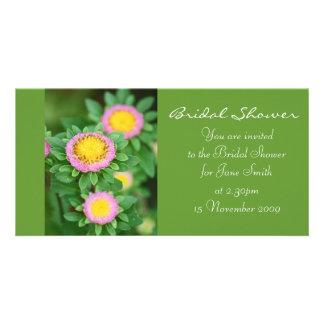 Pink Daisy - Bridal Shower Invitation Custom Photo Card