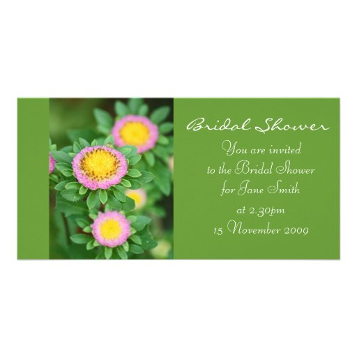 Pink Daisy - Bridal Shower Invitation Custom Photo Card