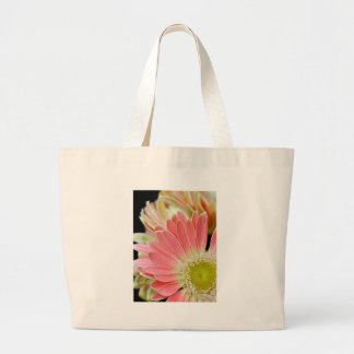 Pink daisy flower blossoms jumbo tote bag