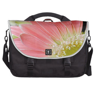 Pink daisy flower blossoms bags for laptop