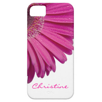 Pink daisy flower custom personalized girls name case for the iPhone 5